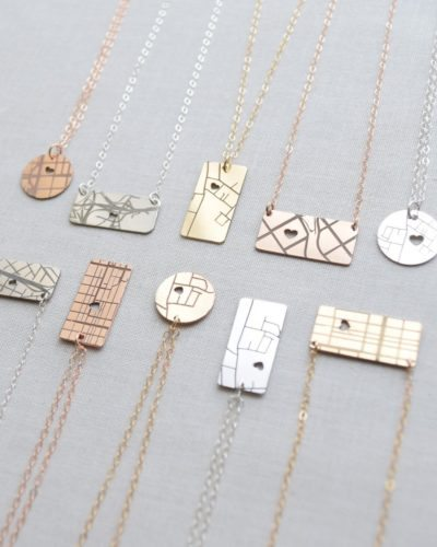 Map necklaces
