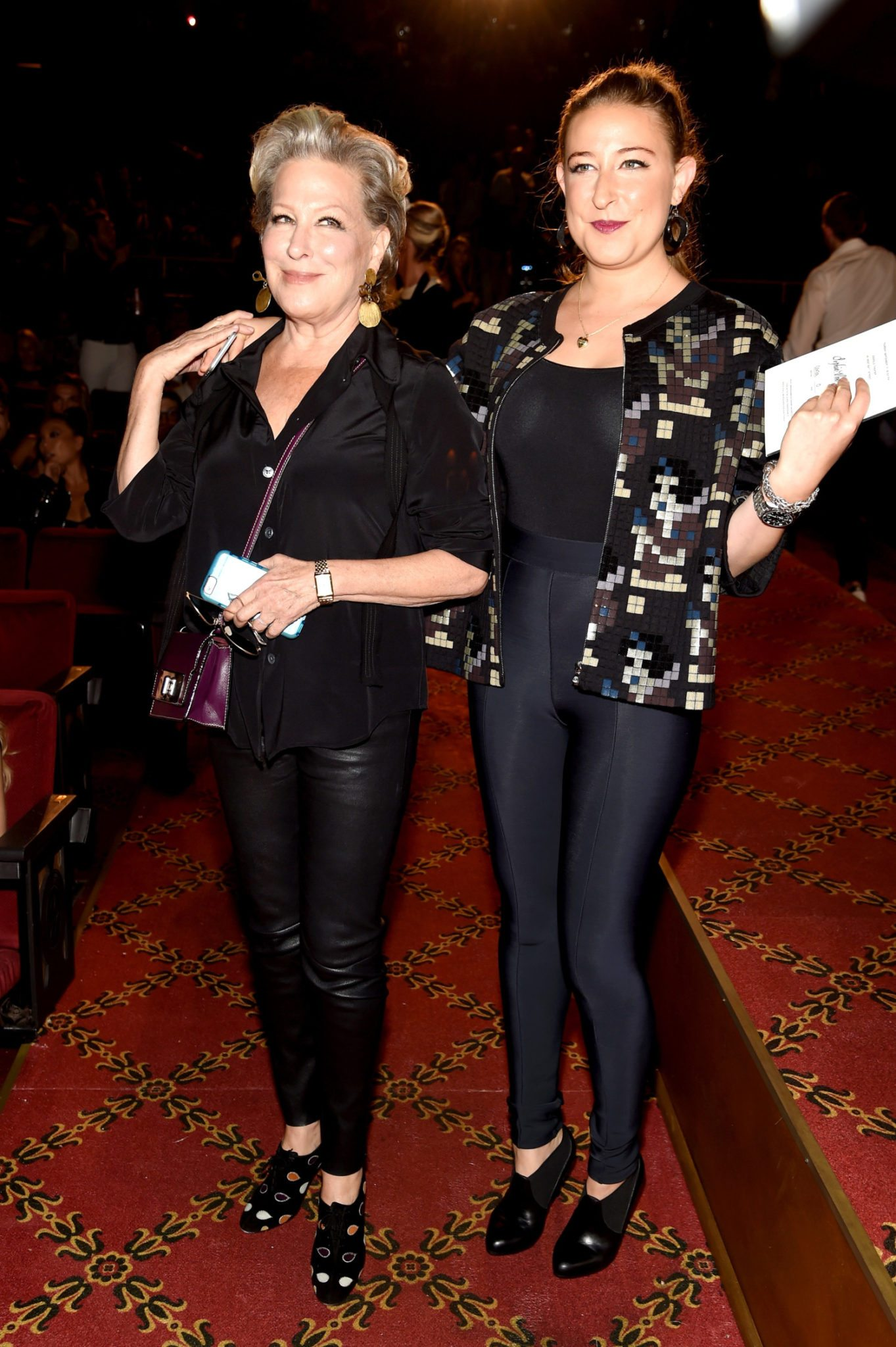NEW YORK, NY - SEPTEMBER 17: Bette Midler and daughter Sophie von Haselberg attend the Marc Jacobs Spring 2016 fashion show during New York Fashion Week at Ziegfeld Theater on September 17, 2015 in New York City. (Photo by Jamie McCarthy/Getty Images for Marc Jacobs)