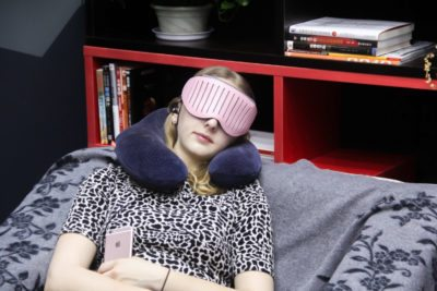 The makers of this high-tech sleep mask say it will wake you up at the right point in your sleep cycle so you're not groggy.