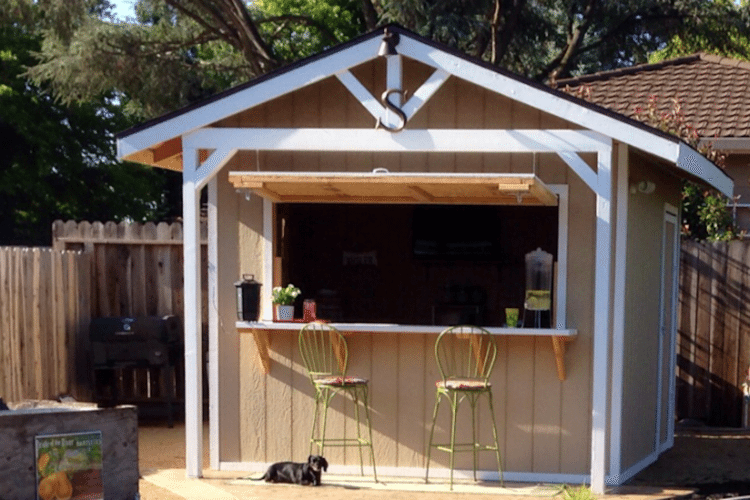 How To Make A Bar Shed From A Backyard Garden Shed