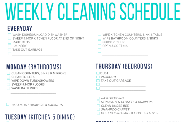 image about Cleaning List Printable named Free of charge Printable Cleansing Agenda For Property Chores