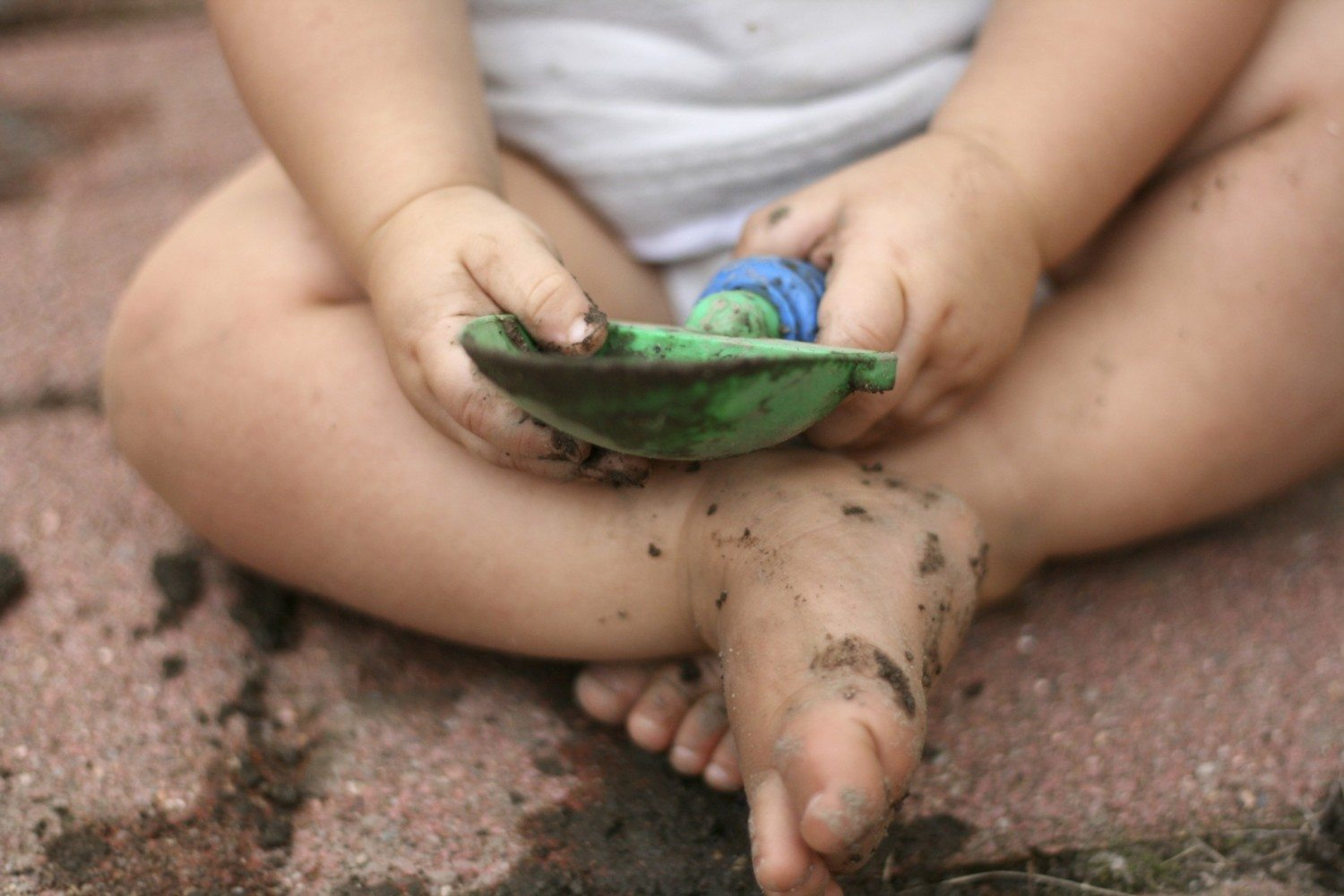 playing in dirt photo