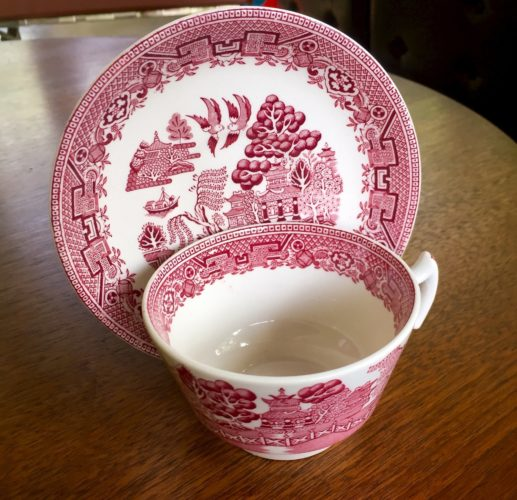 Blue Willow China Pink Pattern