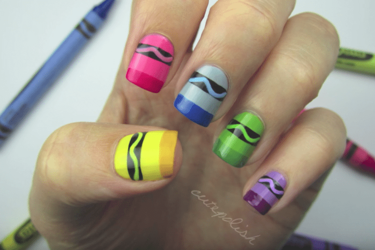 11 Awesome Back-To-School Nail Art Designs - Crayon Nail Art And Other Back-To-School Nail Designs - Simplemost