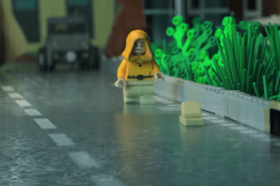It opening scene LEGO recreation