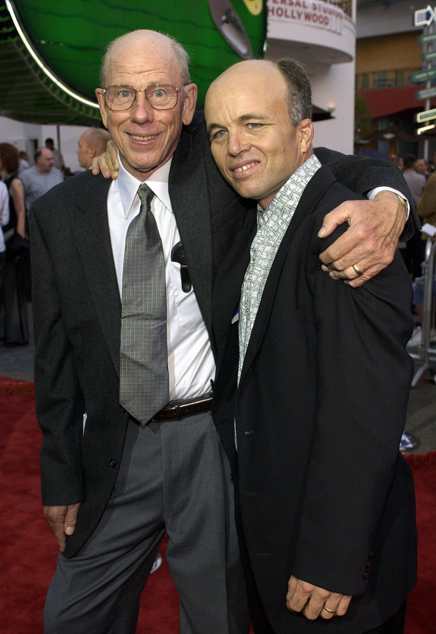 Clint Howard and Father Rance At Premiere of Apollo 13 - The IMAX Experience