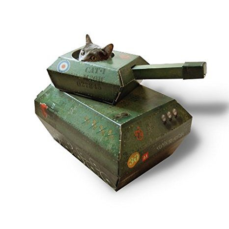 Buy A Cardboard Tank Or Airplane For Your Cat Simplemost - This company makes cardboard tanks houses and planes for cats and theyre perfect