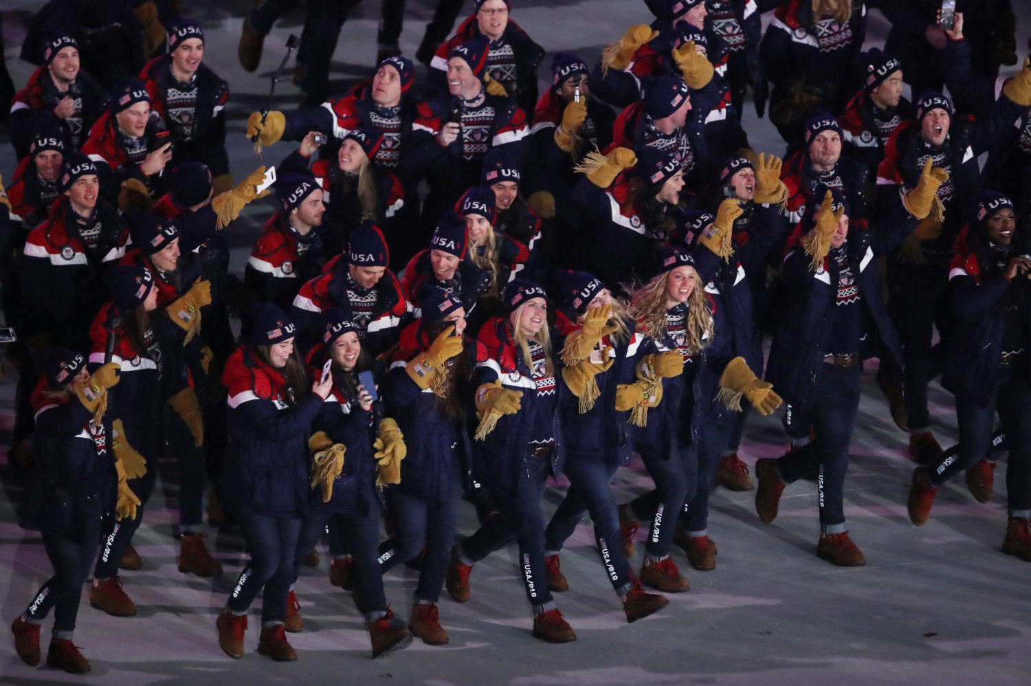 team usa opening ceremony pyeongchang photo