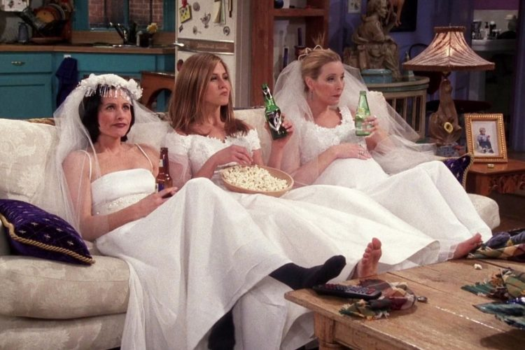 friends wedding dresses
