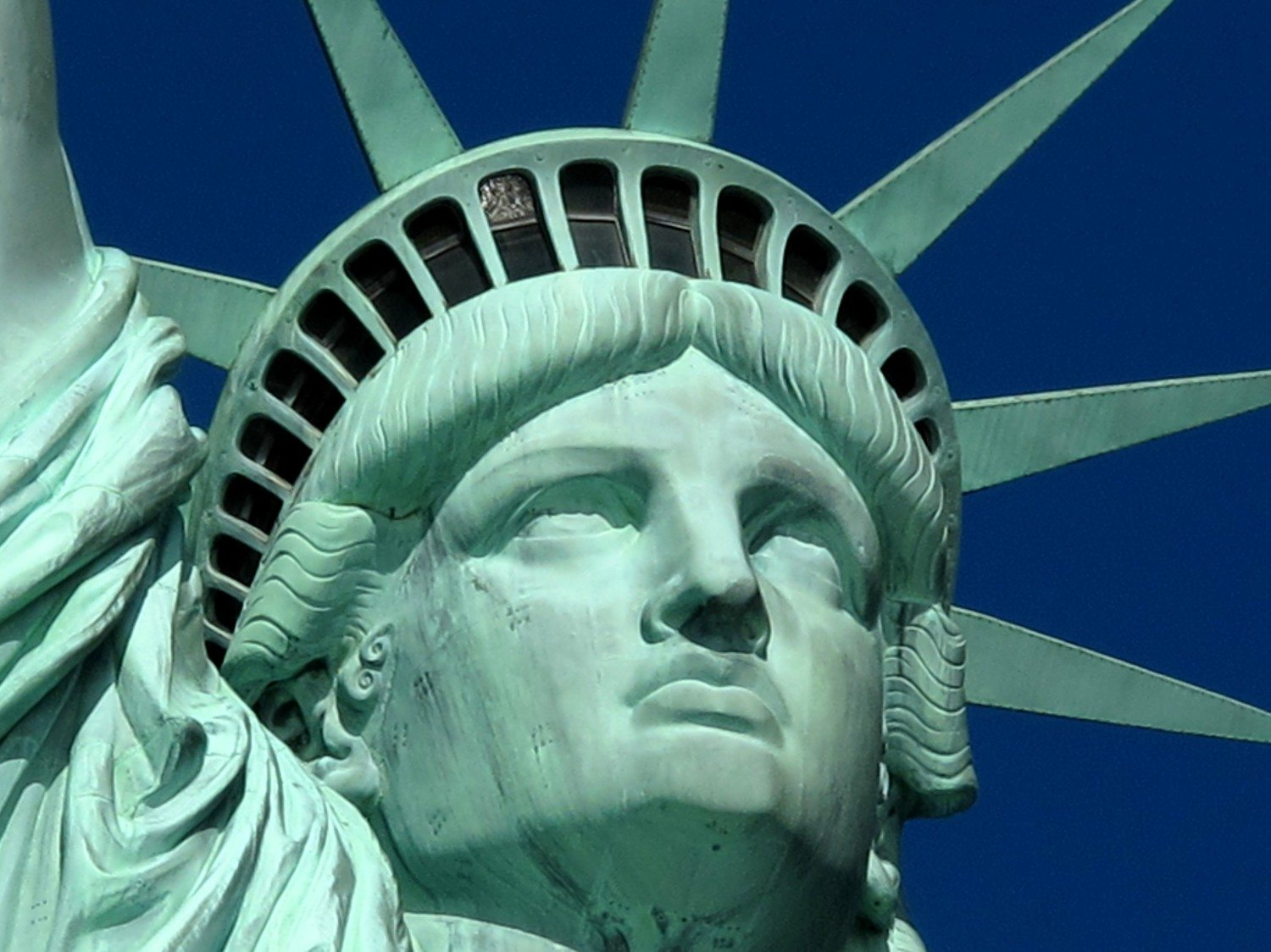 statue of liberty face photo