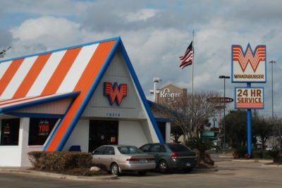 How One Knows One Is In Texas, and Not Southern CA: Whataburger, South Post Oak Road, Houston TX