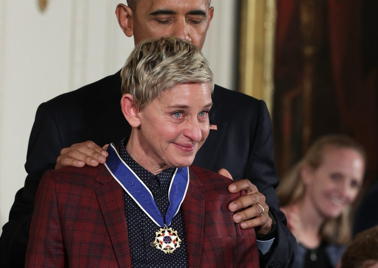 ellen degeneres medal photo