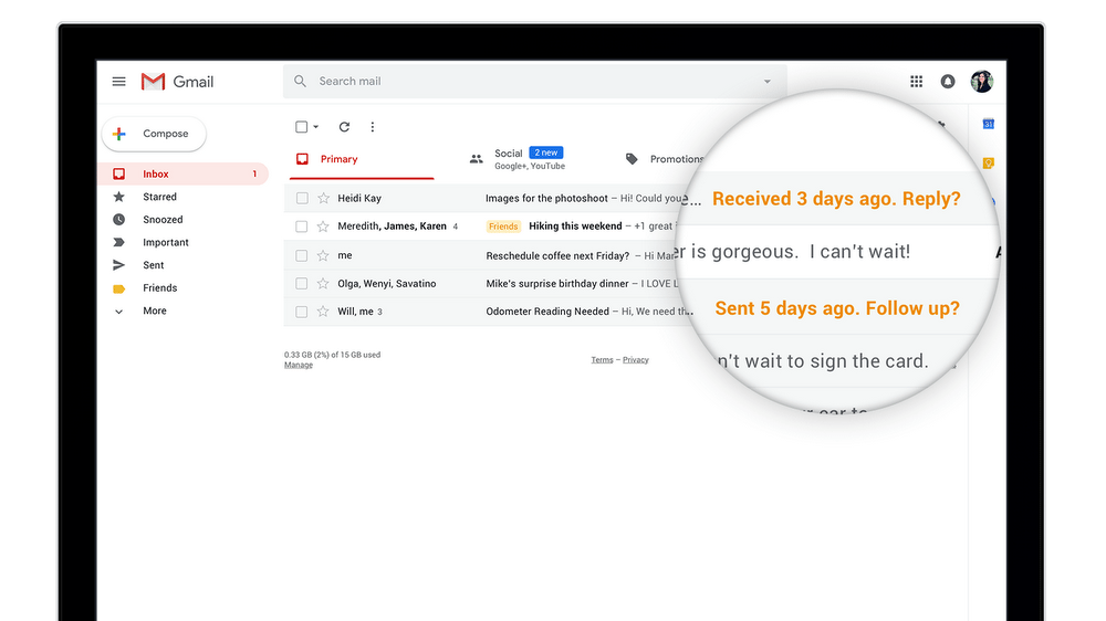 Gmail's 'Smart Compose' uses AI to help you write emails quickly