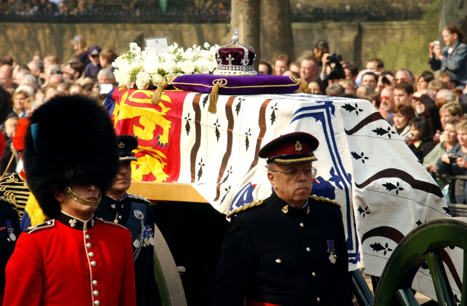 queen elizabeth mother funeral photo