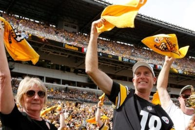 Ryder Cup Trophy Tour At Pittsburgh Steelers Game