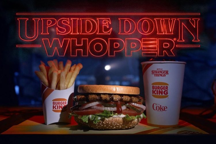 Burger King to sell 'Upside Down Whoppers' before 'Stranger Things' returns