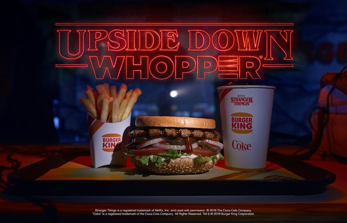 Burger King to Sell 'Stranger Things' Upside Down Whopper