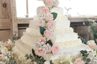 wedding cake from Costco
